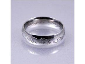 Prsteň- Pán prsteňov postriebrený