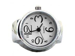 Prsteň s bielymi hodinkami