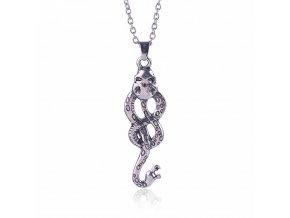 Slytherin font b Snake b font necklace Nagini Lord Voldemort horcrux vintage font b antique b