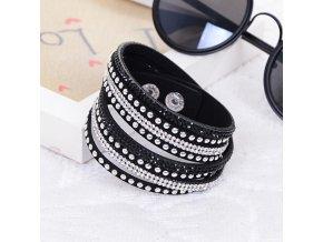 KUNIU 1Piece Women Fashion Leather Wrap Wristband Cuff Punk Rhinestone Bracelet Bangle Gift.jpg 640x640