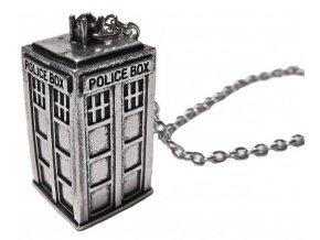 Náhrdelník Pán času- Dr.WHO TARDIS strieborná