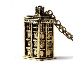 Náhrdelník Pán času- Dr.WHO TARDIS bronz
