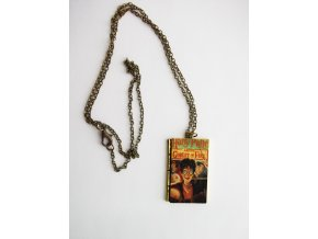 Náhrdelník Kniha / Ohnivá čaša