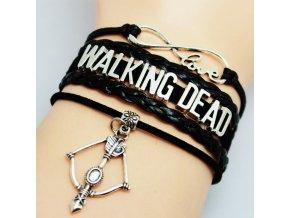 6pcs lot New Fashion Infinity Love Walking font b Dead b font Bracelet DIY Gift Charm