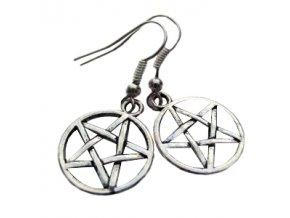 Náušnice pentagram - Supernatural