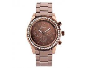 Geneva dámske náramkové hodinky Kávová