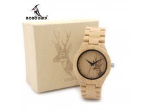 BOBO BIRD WE04 New font b Famous b font Brand Womens Deer Wooden Bamboo Wrist Watch