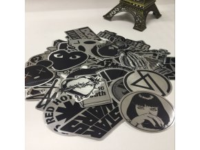 50pcs lot Metallic Color Black and White DIY Stickers for Skateboard Laptop Snowboard Car Phone Home.jpg 640x640