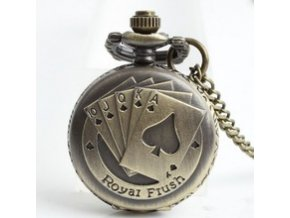 Free Shipping Mini Royal Flush Cards Cover Pattern Retro Necklace Chain Small Size Pocket watch woman.jpg 220x220