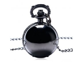 Black Silver Steampunk Fashion Ball Shaped Quartz Pocket Watch Women Men Unisex Necklace Pendant Birthday Gift.jpg 640x640