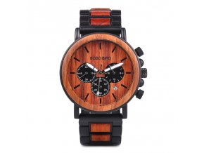 BOBO BIRD Mens Watches New Special Wood and Metal Design Wooden Wristwatches Ideal Quartz Watch for