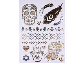 Metalické tetovanie Skull