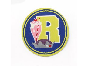 TV Riverdale Art letter R ice cream patch Embroidered iron on badge for clothing
