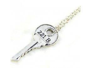 Náhrdelník Sherlock - Kľúč 221B strieborný