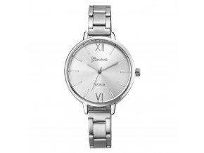 Geneva dámske náramkové hodinky  strieborné VI