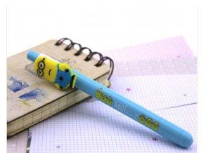 Pero S mimoňom svetlomodré