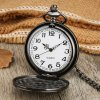 Black Triangle The Deathly Hallows Lord Printing Analog Quartz Pocket Watch Necklace Theme Collectibles for Men