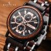 Relogio Masculino BOBO BIRD Wooden Watch Men Top Brand Luxury Stylish Chronograph Military Watches in Wooden