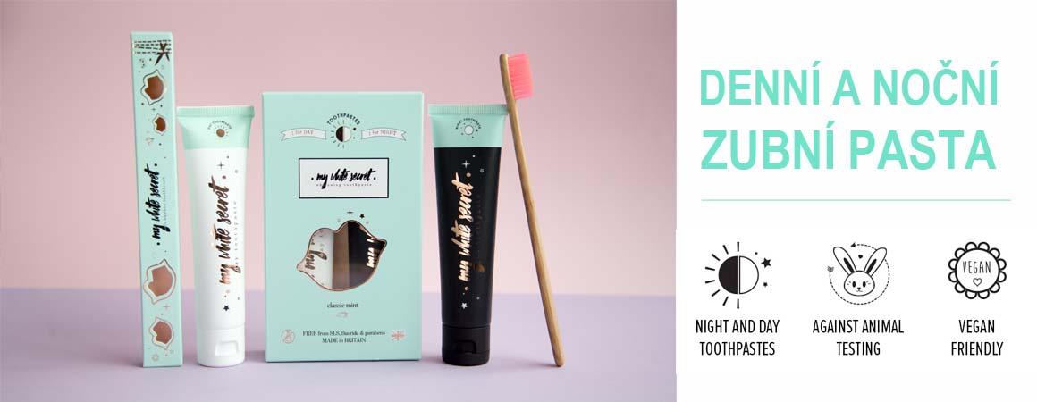 Denní a noční zubní pasta
