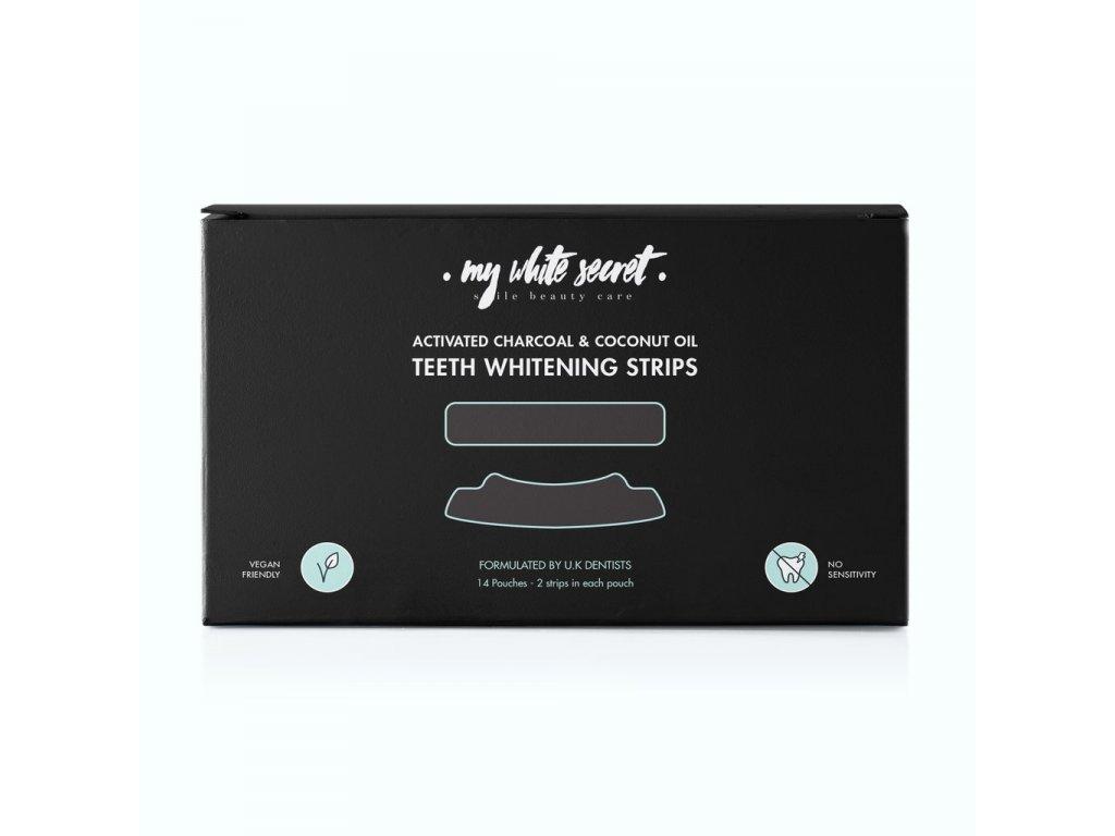 Bělící pásky na zuby s aktivním uhlím na 2 týdny (14 ks)