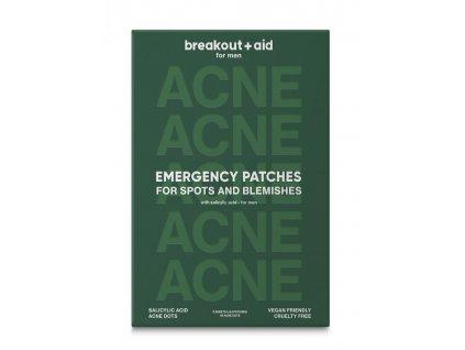 Breakout+aid - Náplasti na lokální ošetření akné pro muže s kyselinou salicylovou