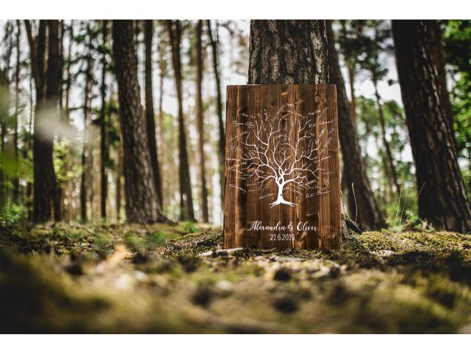 Dřevěný obraz na podpisy #strom
