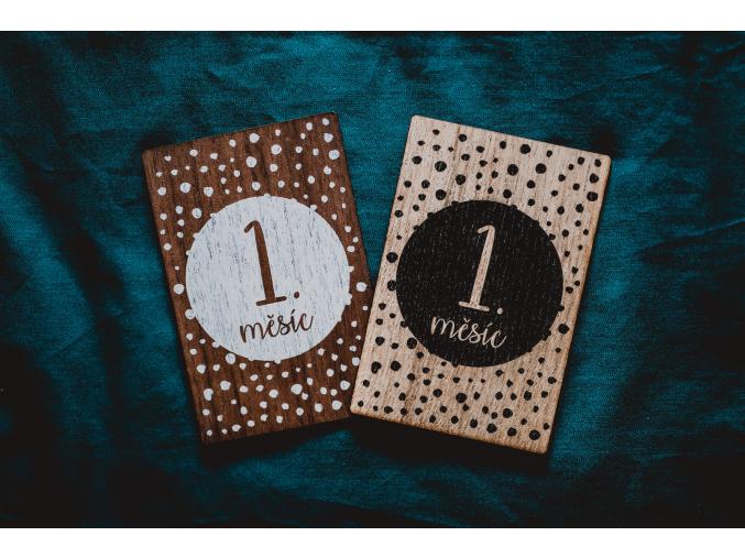 Milníkové karty 1. měsíc - 1. rok  Americký ořech / Dub