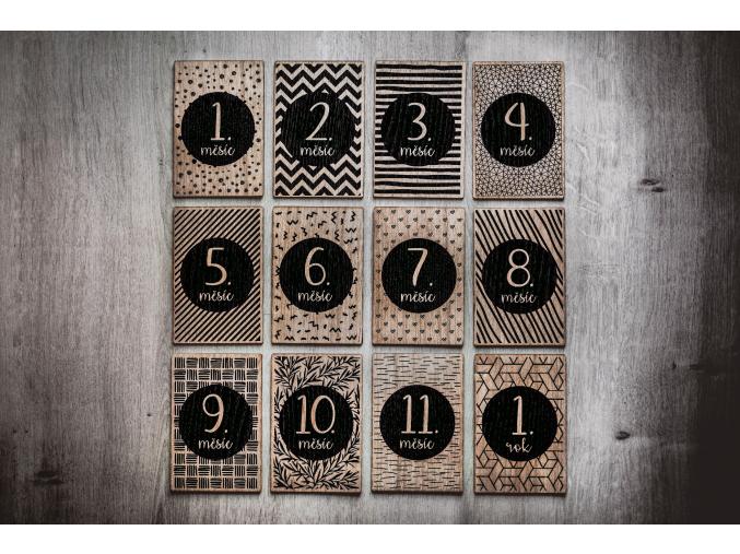 Milníkové karty 1-12 m. #dub