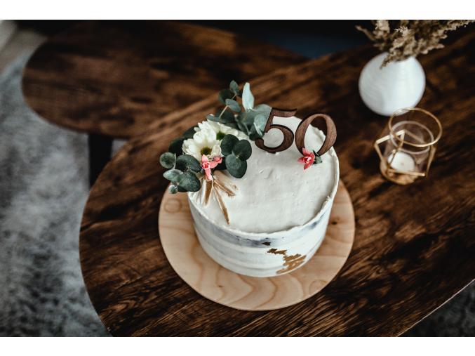 Dřevěné zápichy do dortu 0-9  Zápichy z březové překližky jako třešnička na Vašem dortu.