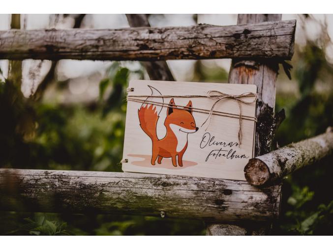Dětské fotoalbum #foxie  Dřevěné dětské fotoalbum s liškou.