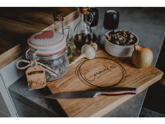 Kuchyňské dubové prkénko #rodina  Stylové prkénko do každé kuchyně.