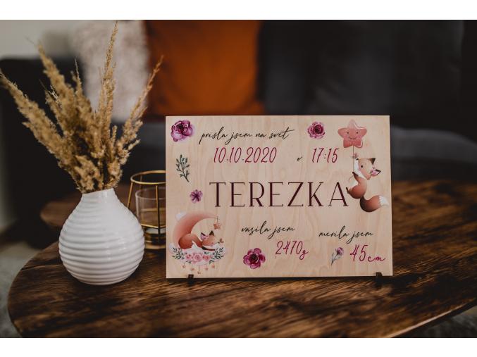 Novorozenecká deska #liska  Pro každé miminko.