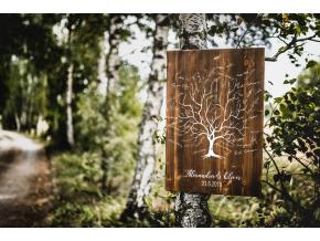 Dřevěný obraz na podpisy #strom  Tradiční motiv svatebního stromu.
