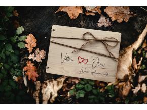 Dřevěné fotoalbum #cesta  Decentní fotoalbum pro zamilované páry.