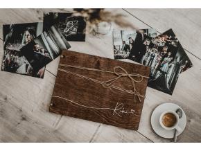 Dřevěné fotoalbum #brown-line