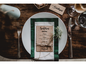 Svatební dřevěné MENU #dub