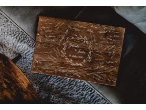 Dřevěný obraz na podpisy #brown-boho