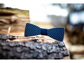Blue elegant  Elegantní motýlek s modrým potiskem přední strany.