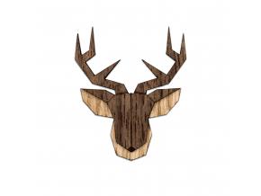 Deer brooch  Naše brože vyrábíme zrůzných druhů dřeva, které ksobě navzájem ladí. Jejím unikátním zpracováním dokonale oživíte celý Váš outfit.