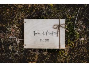 Svatební fotoalbum #elegant  Dřevěné fotoalbum s elegantním vzorem.