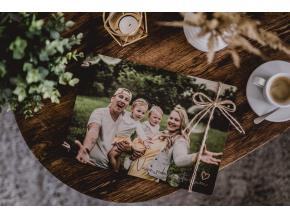 Dřevěné fotoalbum #photo  Dřevěné fotoalbum s Vaší fotografií přes celé přední desky.