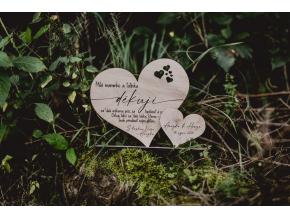 Poděkování rodičům #hearts  Poděkování ze dřeva s Vaším textem a jmény.