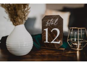 Dřevěná čísla stolů #2  Stylové číslo stolu se stojánkem z březové překližky
