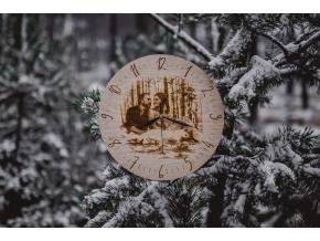 Dřevěné nástěnné hodiny s fotografií