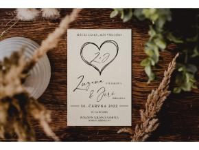 Svatební oznámení #1  Stylové oznámení s elegantním motivem.