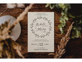 Svatební oznámení #3  Stylové oznámení s elegantním motivem.