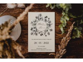 Svatební oznámení #7  Stylové oznámení s elegantním motivem.