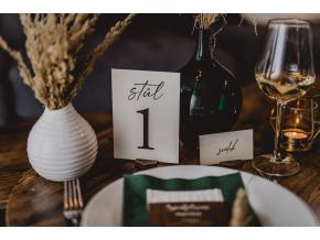 Elegantní čísla stolů  Každý už vždy najde svůj stůl.