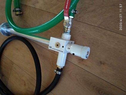 Směšovač řezné kapaliny s vodou pro výrobu řezné emulze E9 - do sudu nebo nádrže 1000l