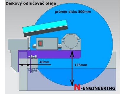 Diskovy odlucovac oleje z emulze separator